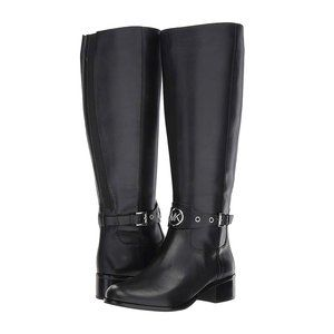New Michael Kors Heather Tall Black Leather Boots